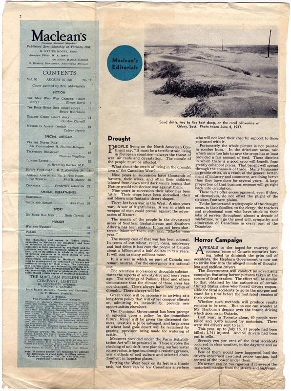 Maclean's editorial - 15 August 1937
