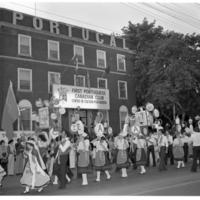 Parade in front of First Portuguese Canadian Club: Centro de Cultura Portuguesa - 1978