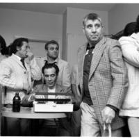 Portuguese men at Benfica Club