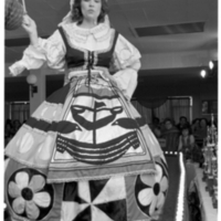 Woman wearing traditional costume at Benfica Club