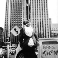 Effigy of accused hanged on the back of a van: the 'shoeshine boy' protest