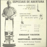 Embassy Vacuum and Janitorial Supplies advertisement
