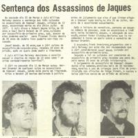 Comunidade reports sentence of Emanuel Jaques' murderers