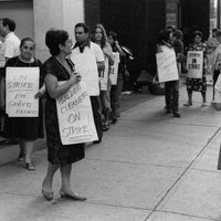 1984 06 First Canadian Place cleaners strike.jpg