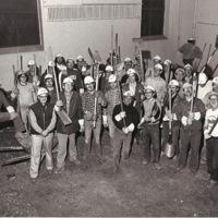 Bell volunteers renovating Older Adult Center at 761 Queen St. West