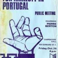 Canadian Conference for Amnesty in Portugal, October 28-30, 1966 (Toronto, Canada)