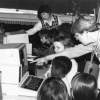 Children's computer class at St. Christopher House