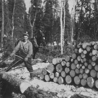 #1 3-19 1954 Grace Anderson & David Higgs - Lumber worker.JPG