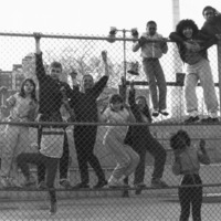 St. Christopher House youth on the fence