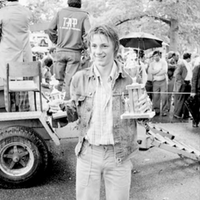 Trophy awarding ceremony for cycling competition in High Park