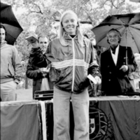 Trophy awarding for cycling competition in High Park