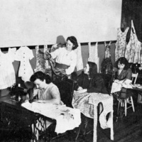 Women sewing group at St. Christopher House