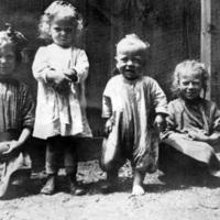 Children in St. Christopher House backyard