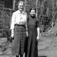 Barbara Finlayson with Asian woman