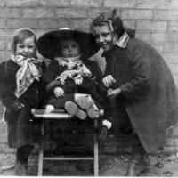 """Ada Dennis, Jim and Ethel"": children at St. Christopher House"