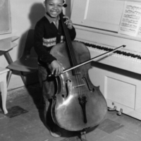 Little cello player: St. Christopher House Music School