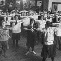 """St. Christopher House's White Shield Club: """"Mothers gym time at Ryerson School"""""""