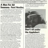 Mariposa Notes: Mariposa Folk Foundation vol. 1 no.2 Fall 1981