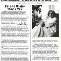 Mariposa Notes: Mariposa Folk Foundation vol. 1 no.1 Summer 1981