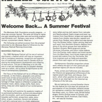 Mariposa Notes: Mariposa Folk Foundation vol. 1 no.3 Winter 1981