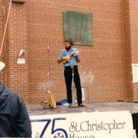 Nuno Cristo playing at St. Christopher House's 75th Anniversary