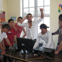 Hungarian Roma youth celebrating at Parkdale Youth Space