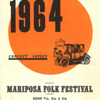 1964 Concert Series presented by Mariposa Folk Festival incorporated August 7th, 8th & 9th just west of Orillia Ontario Canada