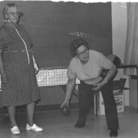 Seniors indoor bowling at St. Christopher House