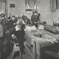 St. Christopher House boy's woodworking class