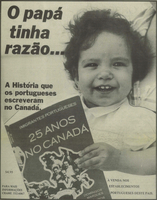 Portuguese Immigrants: 25 Years in Canada ad