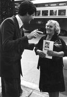 Bill Moniz campaigning for the '78 Toronto municipal elections