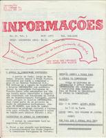 Informações newsletter front cover
