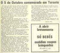 """""""5 de Outubro celebrado em Toronto"""""""