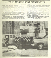 News clipping: immigrant workers killed by locomotive