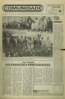 Comunidade issue celebrating pioneers of Portuguese immigration to Canada