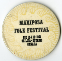 Mariposa Folk Festival button