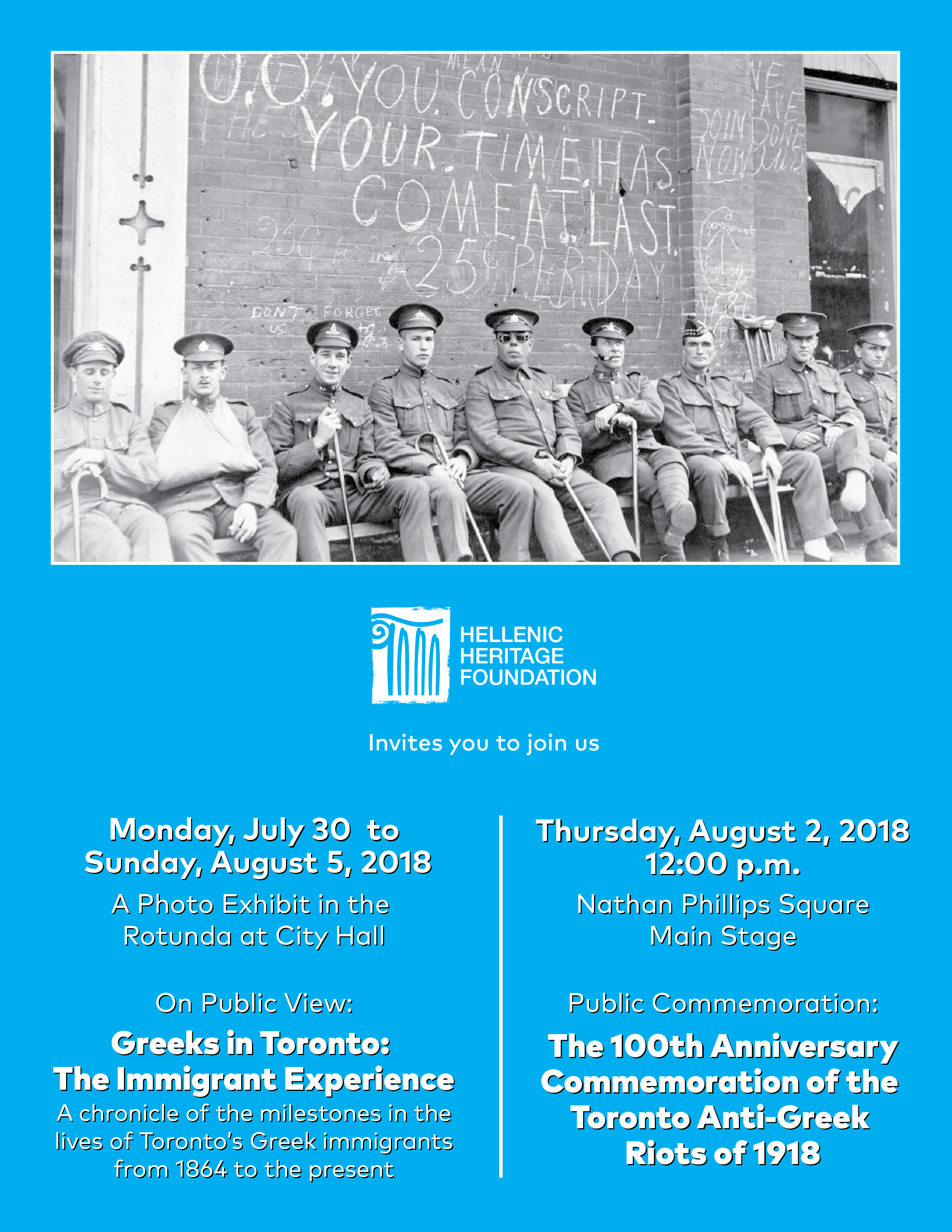 100 Year Commemoration of the 1918 Anti-Greek Riots at City Hall